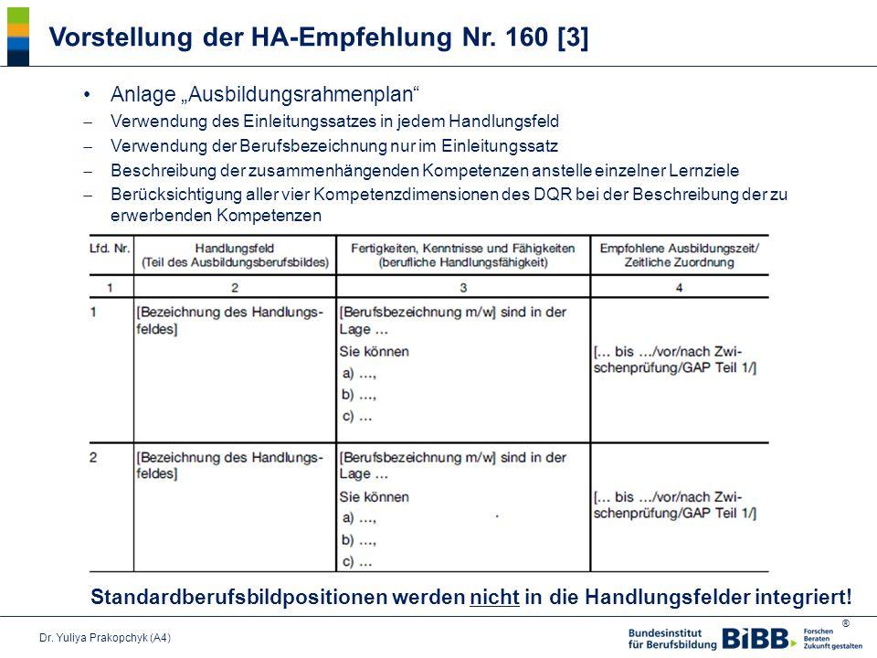 Vorstellung der HA-Empfehlung Nr. 160 [3]